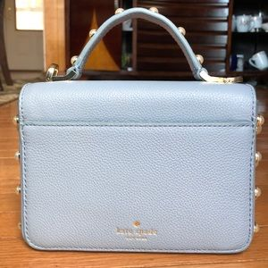 Small blue, pebbled leather Kate spade bag